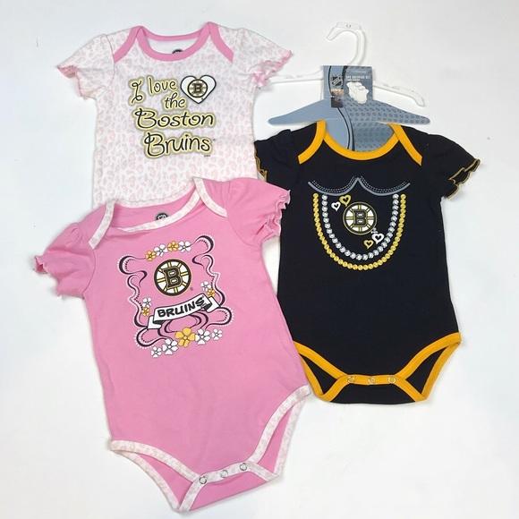 BOSTON BRUINS Short Sleeve Infant Shirt  6//9 months NWT NHL